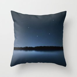 Mensa star constellation, Night sky, Cluster of stars, Deep space, Table Mountain constellation Throw Pillow