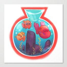 Fishbowl budies Canvas Print