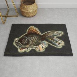 Black moor fish Rug