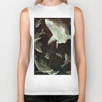 sharks Biker Tanks featuring sharks by Lara Paulussen