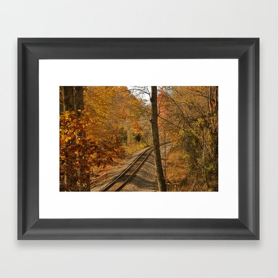 S Curve Framed Art Print