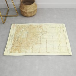 Manzana, CA from 1938 Vintage Map - High Quality Rug