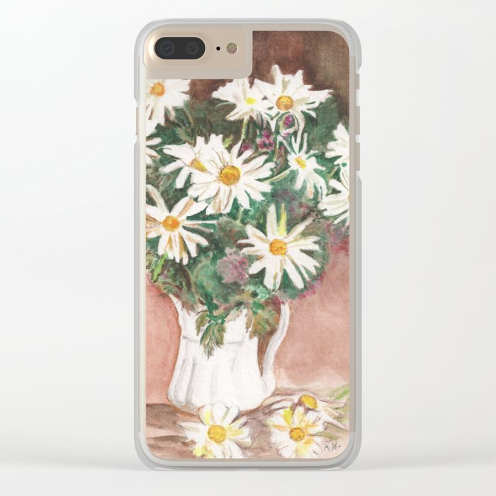 Still Life of Daisies Clear iPhone Case