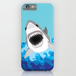 Great White Shark Attack iPhone Case