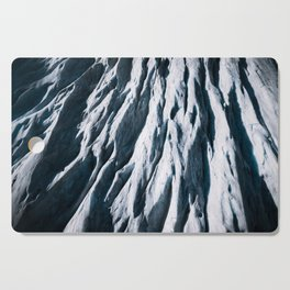 Arctic Glacial Pattern from above - Landscape Photography Cutting Board
