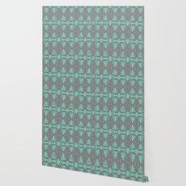 Tiki Vintage Green Rhythmic Dance Wallpaper