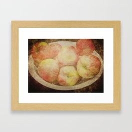Vintage Apples Framed Art Print