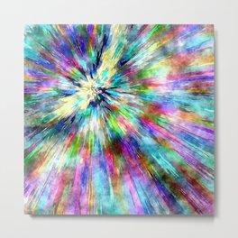 Colorful Tie Dye Watercolor Metal Print