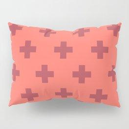Swiss Cross Retro Red Pillow Sham