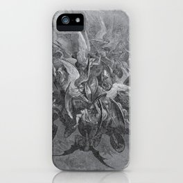 Now storming fury rose, Paradise Lost, Gustave Dore, 1866 iPhone Case