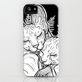 (un)loved sphynxes iPhone Case
