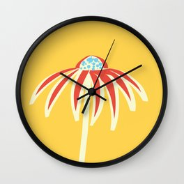 Summer flower Wall Clock