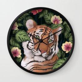 Serene Tiger Wall Clock