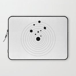 Black Solar System Laptop Sleeve