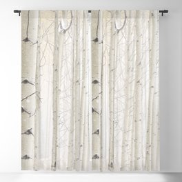 Aspens in Snow I Blackout Curtain