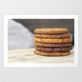 oatmeal cookies Art Print
