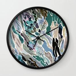 Abstract artistic brush strokes JF Wall Clock