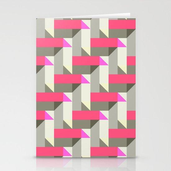 Herringbone geometric Stationery Cards