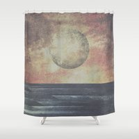 valentina Shower Curtains featuring Restless moonchild by HappyMelvin