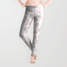 Blush gray watercolor foliage pattern Leggings
