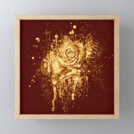 golden  rose explosion Framed Mini Art Print