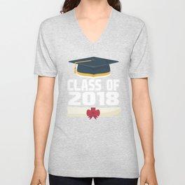 senior class of 2018 graduation  Unisex V-Neck