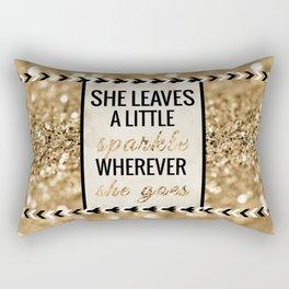 She Leaves a Little Sparkle Wherever She Goes Rectangular Pillow