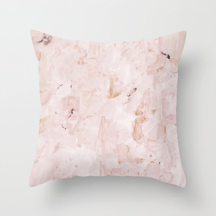 abstract-soft pink Throw Pillow