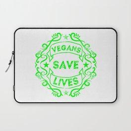 Vegans Save Lives Laptop Sleeve