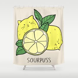 Sourpuss (colourised) Shower Curtain