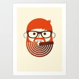The Gradient Beard Art Print