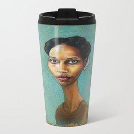 Portrait of Ayaan Hirsi Ali Metal Travel Mug