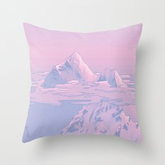 Cotton Candy Sunset Throw Pillow