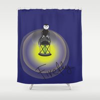 firefly Shower Curtains featuring Firefly by Tink.hr