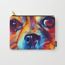 Chihuahua Watercolor Carry-All Pouch