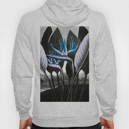 Birds of Paradise Temple of Flora Blue Gray Hoody