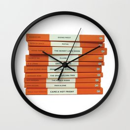 Penguin Book Stack Wall Clock