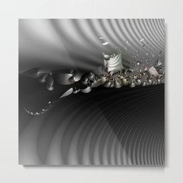 Storm of life renewal - Black and white with a hint of tint Metal Print