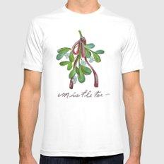 Under  the Mistletoe botanical  White MEDIUM Mens Fitted Tee