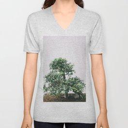 Bonsai Tree - Botanical Minimalist Fine Art Unisex V-Neck