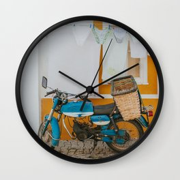 Clothing Line in Portugal - Travel Photography  Wall Clock