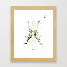 Gutsy Gemini Framed Art Print