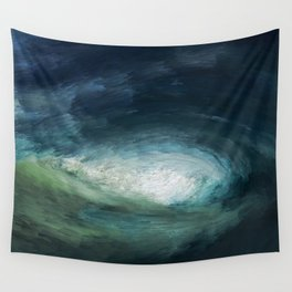 A Wild Wave - Storm Wall Tapestry