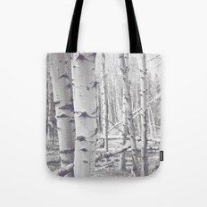 Black and White Aspens Tote Bag