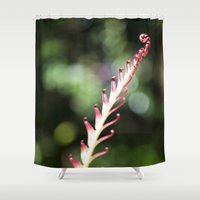 plant Shower Curtains featuring plant by Maryann Worrall