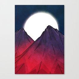 Midnight Mountains Canvas Print