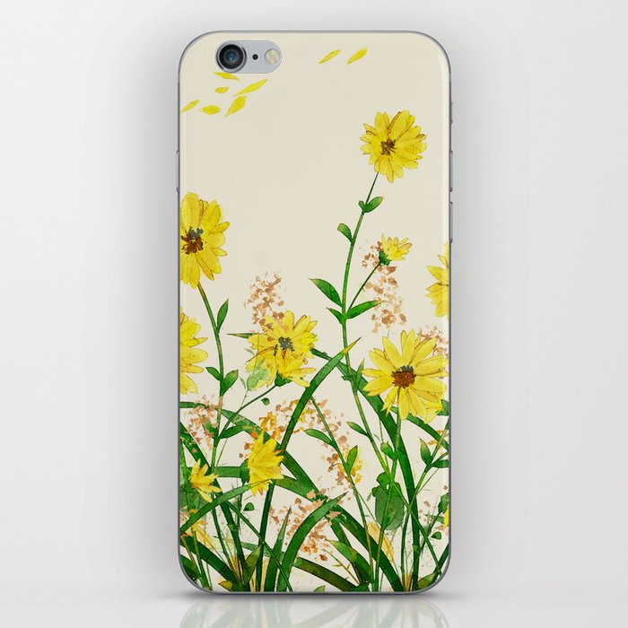 Yellow Wildflowers iPhone Skin