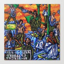 Blue Flower festival Canvas Print