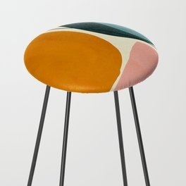 shapes geometric minimal painting abstract Counter Stool