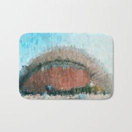 Kongresshalle Berlin Painting /  impressionism style Illustration  / abstract landmarks drawing Bath Mat